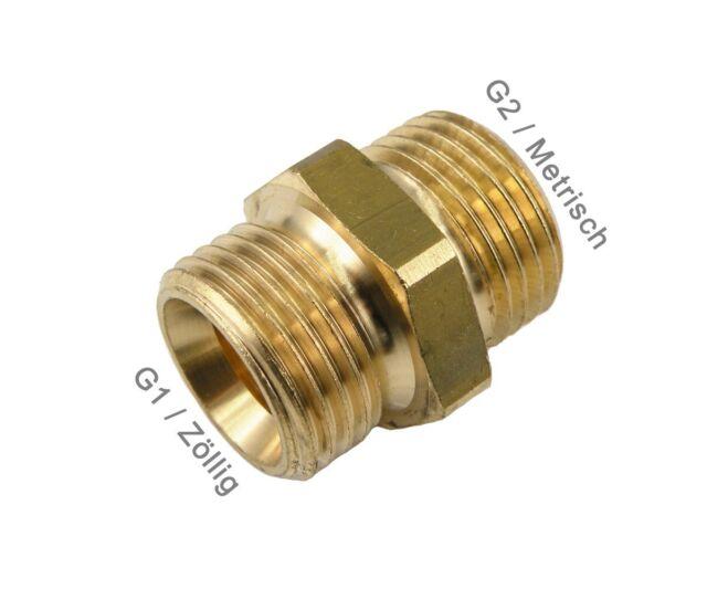 Reduzierung Zöllig auf Metrischem Gewinde Doppelnippel Adapter Messing Fitting