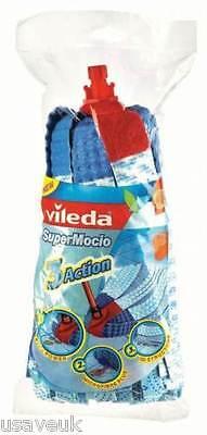 Vileda Supermocio 3 Action SCOPA TESTA RICARICA 137477 Blu