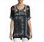 JOHNNY-WAS-Embroidered-DANNY-Short-Sleeve-Tunic-BLOUSE-Floral-S-268-NWT thumbnail 8