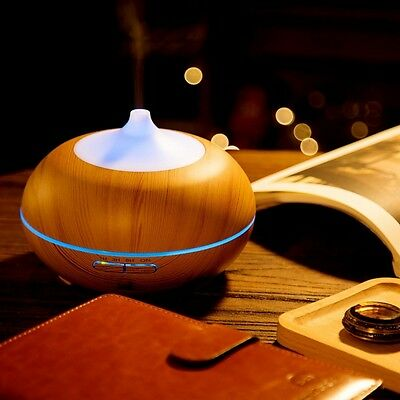 300ml LED Essential Oil Diffuser Ultrasonic Aroma Air Humidifier Purifier