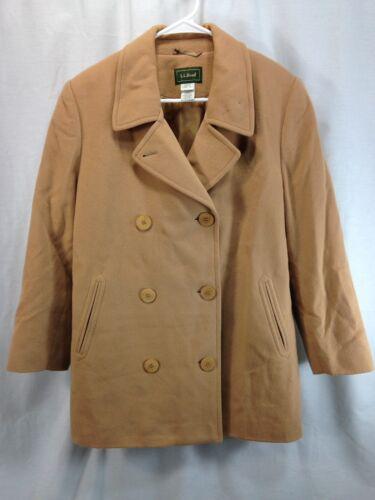 Coat Beige Ll Double Peacoat Petite Uld Jacket Bean Dame Breasted Blend 12 Awq15
