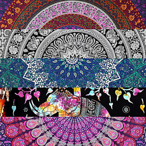 Indian-Tapestry-Wall-Hanging-Mandala-Large-Psychedelic-Hippie-Throw-Bedspread