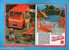 TOP978-PUBBLICITA'/ADVERTISING-1978- MATTEL - BARBIE ROULOTTE + PISCINA