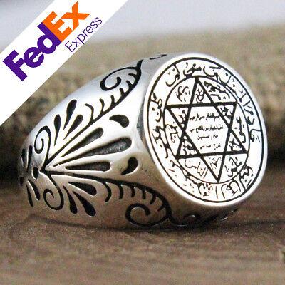 Special Islamic Design Turkish Handmade 925 Sterling Silver Men/'s Luxury Ring
