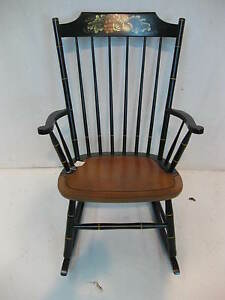 """Hitchcock chairs co """"Autumn Rose Rocker """"Chair ..."""