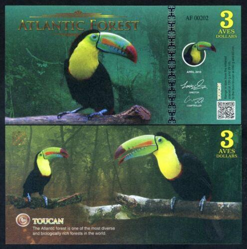 Atlantic Forest 3 Aves Dollar 2016 Toucan