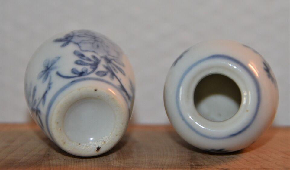 Porcelæn, miniature vaser orientalske