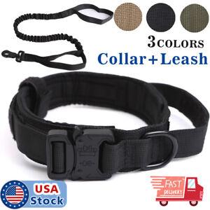 K9-Tactical-Dog-Collar-Heavy-Duty-Military-Dog-Collar-w-Dog-Leash-Metal-Buckle