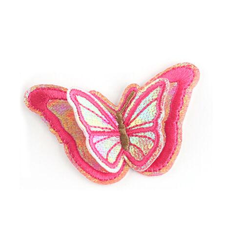 Handmade 3D Schmetterling Patch Aufbügeln Aufnäher für Jeans Kleid SHirt Flicken