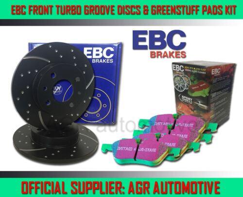 EBC FRONT GD DISCS GREENSTUFF PADS 240mm FOR FORD ESCORT MK4 1.6 XR3I 1986-90