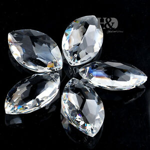 5-Clear-Chandelier-Glass-Crystals-Lamp-Prisms-Parts-Hanging-Drops-Pendants-38mm