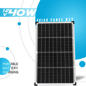 40W 12V Solar Panel Kit Mono Cells Battery Charger Portable RV Camping Power