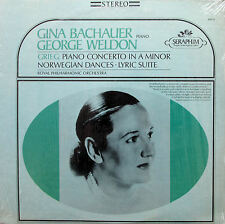 S-60032 Gina Bachauer Weldon Grieg Piano Concerto NEAR MINT Seraphim Stereo LP