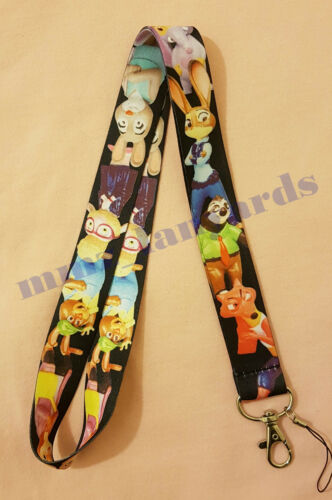 1 x Neck Lanyard ID Badge Key Holder Assorted Cartoon Designs LC005 *UK Seller*