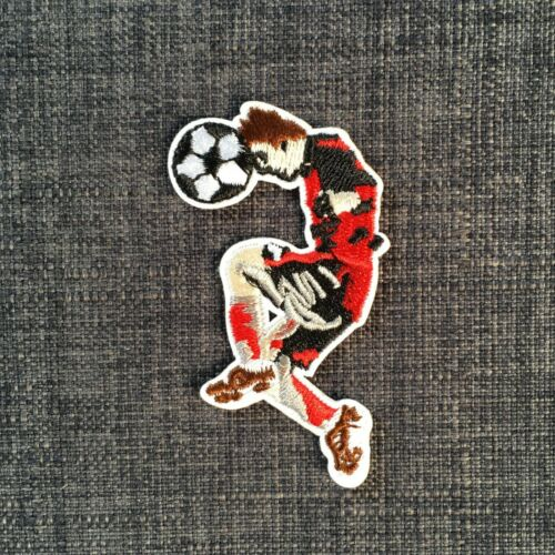 SOCCER FOOTBALL PLAYER High Quality Fully Embroidered Patch Badge Motif Iron-On