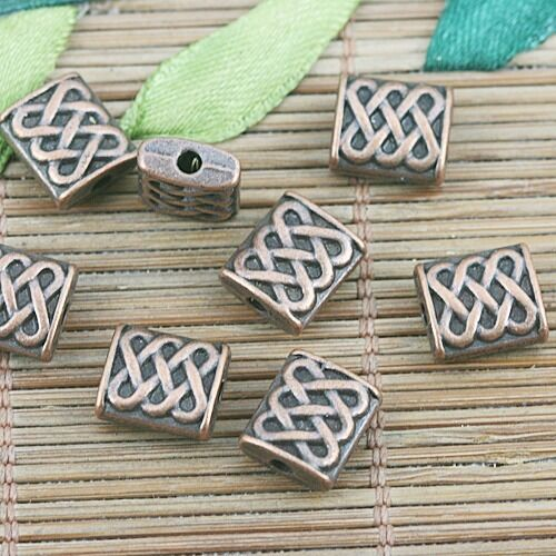 14pcs antiqued copper color 2sided  spacer beads h2029-C
