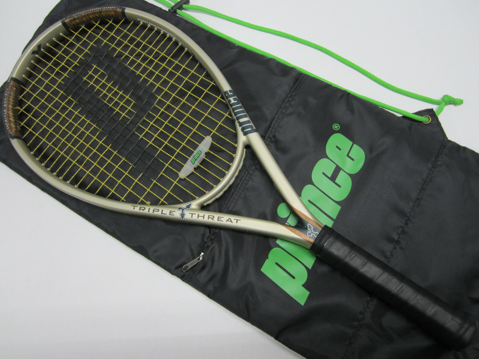 PRINCE TRIPLE THREAT TT RIP RIP TT 115 RACQUET (4 1/2) NEW STRINGS/GRIP!! befdc6