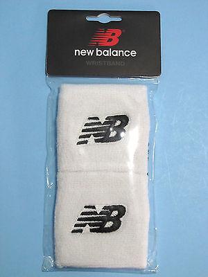 New Balance Wristbands Sweatbands Embroidered NB Logo White 2/Pkg Unisex NIP 883575614359   eBay