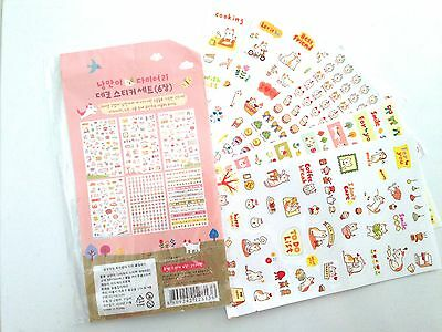 6 X Sheets cute Cat Lover Word Stickers - Planner Labels Journal Diary kawaii