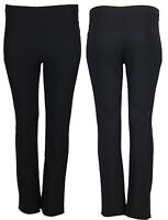 V12 Women Ladies Bootleg (Pack Of 2) Nurse Work Care Stretch Rib Trouser 08-26