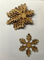 MDF Snowflake Shape Wooden Crafts Embelishments Tags-Christmes tree decoration