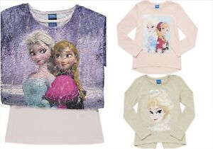 Girls-Top-Disney-Frozen-Anna-Elsa-T-Shirt-Various-Designs-5-12-Years-New