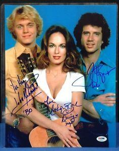 Bach,Wopat,Schneider Signed 11x14 Dukes of Hazzard Photo PSA Cert# AA03514