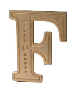 Letter F Gilded Orange Order Collarette Character