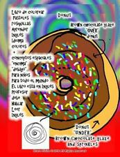 Libro de Colorear Pasteles Rosquillas Aprender Inglés Idioma Colores +...