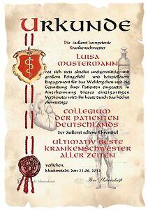 XXL Urkunde  FRISEURIN DIN A3 HW  Diplom  Jubiläum Geburtstag !!!