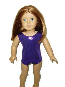 Shiny-Purple-Leotard-Fits-American-girl-dolls-18-inch-Doll-Clothes-Swimsuit