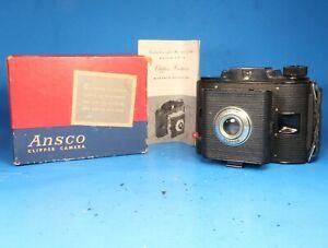 VINTAGE Ansco Clipper JN168 Film Camera w/ Box & Manual - Great Display or Prop