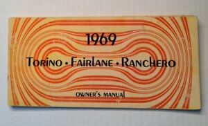 1969 Ford Torino Fairlane Ranchero owners manual book guide
