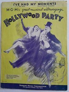 I-039-ve-Had-My-Moments-1934-Sheet-Music-Gus-Kahn-amp-W-Donaldson
