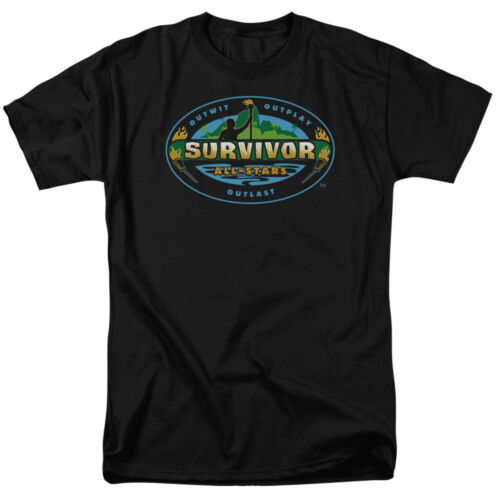 Survivor TV Show ALL STARS Logo Licensed Adult T-Shirt All Sizes