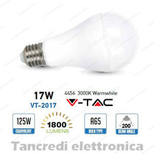 Lampadina led V-TAC 17W = 120W E27 bianco caldo 3000K VT-2017 A65 SMD globo bulb