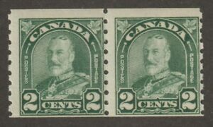 """Canada 1930 #180 King George V """"Arch/Leaf"""" Issue Coil Pair - F MNH"""