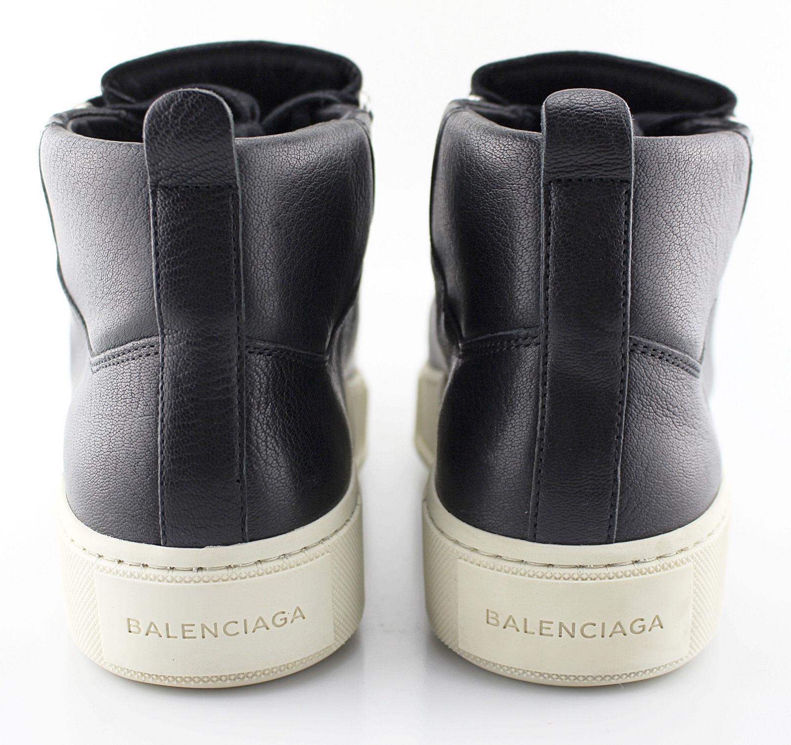 P-De Hombre Cuero Negro Negro Negro BALENCIAGA 'Arena' Zapatillas tamaño nos 8 EUR 41 d4e762