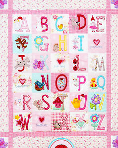 Clearance-ABC-Girls-Quilt-sweet-pieced-amp-applique-quilt-PATTERN-Red-Brolly