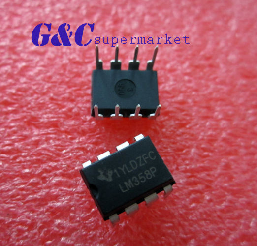 50PCS LM358 LM358N OPAMP DUAL 0-70DEG C 8-DIP NEW GOOD QUALITY