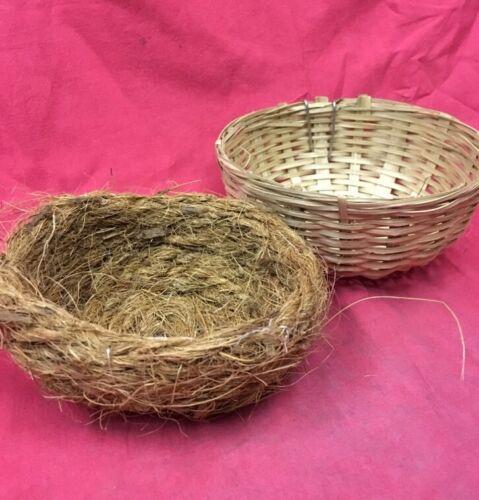 2 X Mimbre nido canario Pan /& 2 X Coco Nido Liner cría pinzones 5 pulgadas