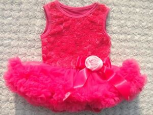 Girls-Dark-Pink-Pettidress-Bodysuit-Deep-Pink-Size-6-12-months-Size-0-New