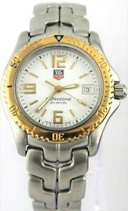 Detalles de TAG HEUER LINK WT1250.BD0555 18K Oro Cuarzo Reloj para Hombre Clásico Suizo de tamaño mediano ver título original