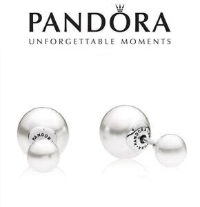Pandora Posey Pearl Diamond Compose Earrings Stud