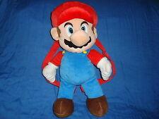 "Nintendo 2012 MARIO PLUSH Animations Backpack 18"" tall"