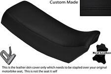 BLACK STITCH CUSTOM FITS SUZUKI TSX 125 85-88 LEATHER DUAL SEAT COVER ONLY