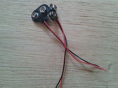 NEUF 6LR61 6LF61 Lot 10 Connecteurs à Clips pour Pile 9V 6F22