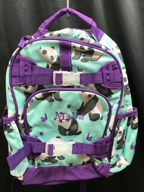 Pottery Barn Kids Aqua Panda Mackenzie Small Backpack