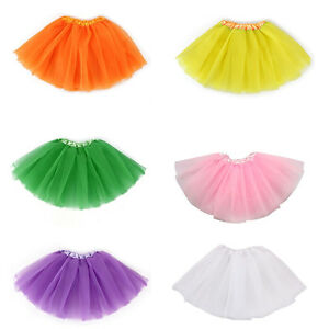 2-7 Year Girls Kids Ballet Tutu Princess Dress Up Dance Wear Costume Party Skirt