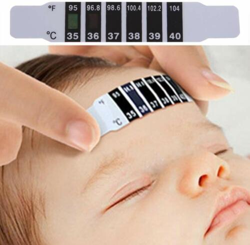 10 Fieber Kopf Thermometer Stirnthermometer Streifen Baby Stirn Band Temperatur